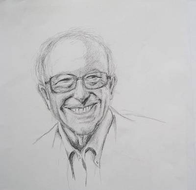 Drawing - Feel The Bern by Patricia Kanzler