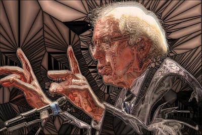 Digital Art - Feel The Bern by Ron Bissett