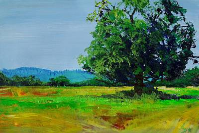 Painting - Feel The Heat - Landscape Painting Devon England by Mike Jory
