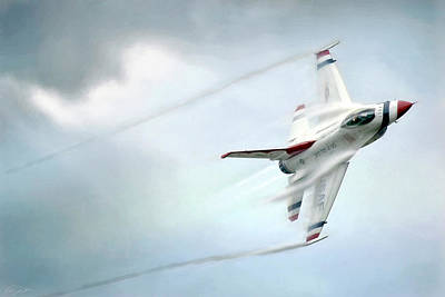 F-16 Digital Art - Feel The Thunder by Peter Chilelli