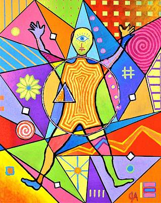 Painting - Feel The Vibes by Jeremy Aiyadurai
