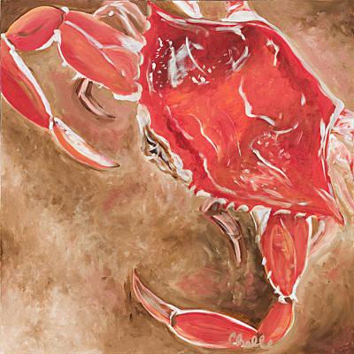 Feelin' Crabby Print by Chelle Fazal