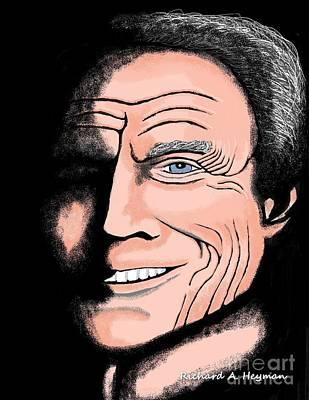 Dirty Harry Drawing - Feelin Lucky by Richard Heyman