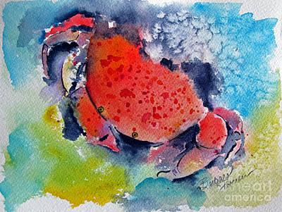 Scuba Painting - Feeling A Little Crabby by Barbara Petersen