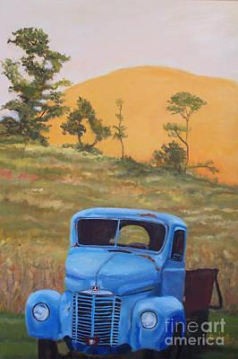 International Harvester Truck Painting - Feeling Blue by Alicia Drakiotes