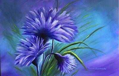 Painting - Feeling Blue by Bozena Zajaczkowska