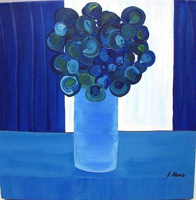 Table Cloth Painting - Feeling Blue by Edmund Akers