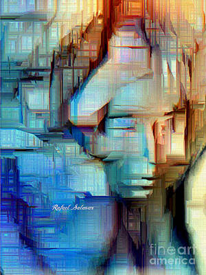 Digital Art - Feeling Blue by Rafael Salazar