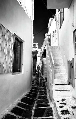 Photograph - Feeling Cramped In Mykonos Infrared by John Rizzuto