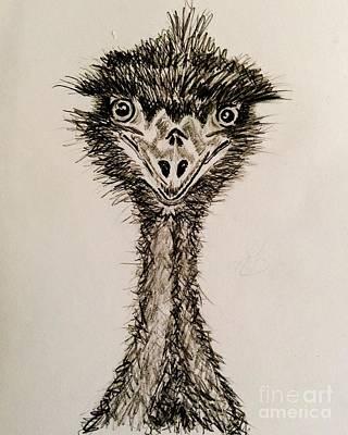 Emu Drawing - Feeling Emused by TeeJayBee Art