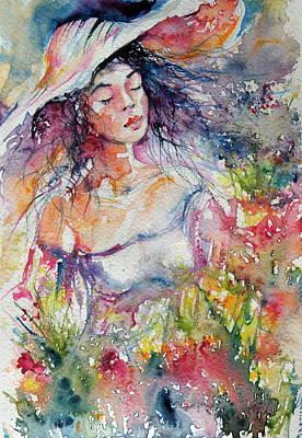 Feeling In The Garden Art Print by Kovacs Anna Brigitta