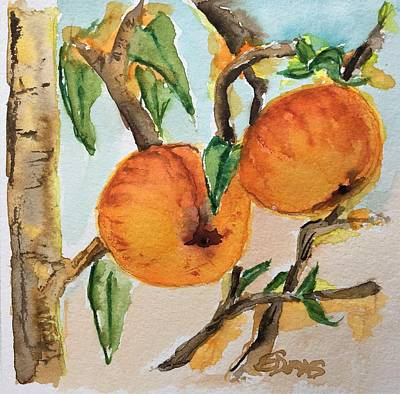 Painting - Feeling Peachy by Elaine Duras