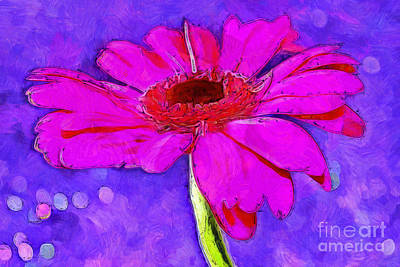 Floral Digital Art Digital Art Digital Art - Feeling Playful by Krissy Katsimbras
