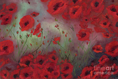 Painting - Feeling Poppy by Stephanie Broker