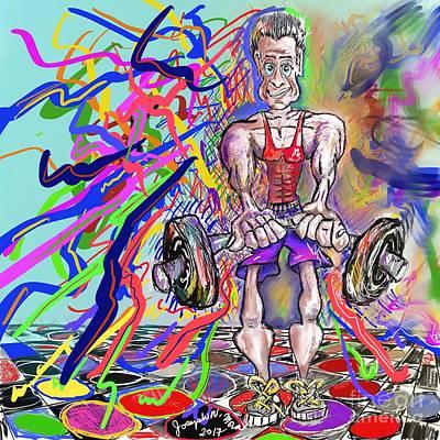 Digital Art - Feeling Pumped Up by Joseph Mora