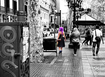 Photograph - Feeling Purple In Barcelona by John Rizzuto