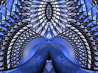 Fractal Geometry Digital Art - Feeling So Blue by Amorina Ashton