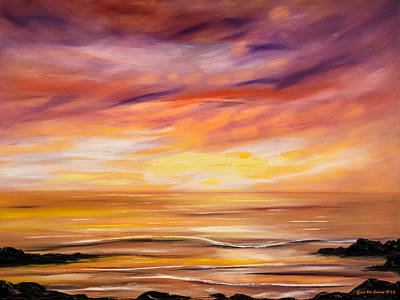 Painting - Feeling The Divinity - Sunset Painting by Gina De Gorna