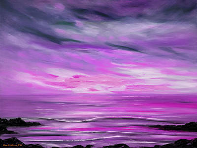 Painting - Feeling The Divinity -  Violet Sunset Painting by Gina De Gorna