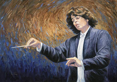 Classical Music Wall Art - Painting - Feeling The Music by Lucie Bilodeau