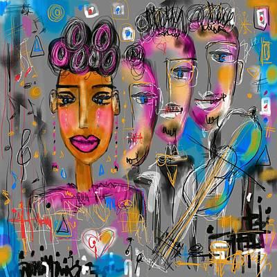 Digital Art - Feeling The Music  by Sladjana Lazarevic