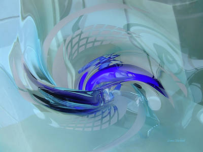 Glass Art Photograph - Feeling Tiffany Blue by Donna Blackhall