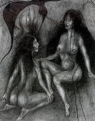 Creativity Drawing - Feeling by Wojtek Kowalski