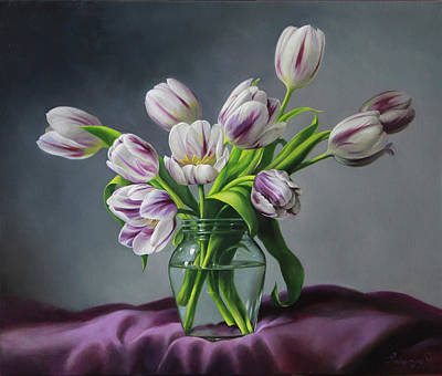 Tulip Painting - Feelings by Pieter Wagemans