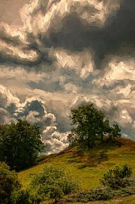 Feels Like Hail Art Print by John K Woodruff