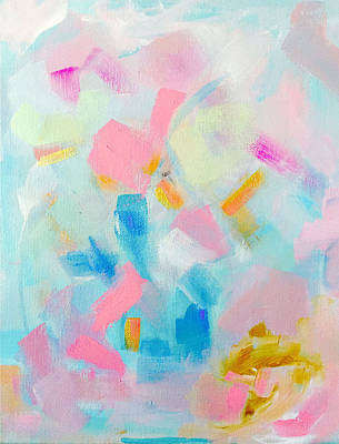Modern Abstract Painting - Feels Like My Birthday by Jazmin Angeles
