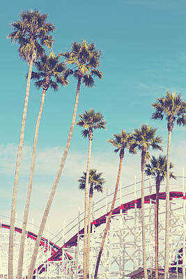 Photograph - Feels Like Summer - Boardwalk Roller Coaster Photograph by Melanie Alexandra Price