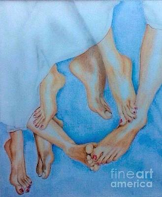 Naughty Feet Art Print