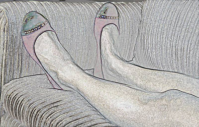Photograph - Feet On The Couch by Kellice Swaggerty