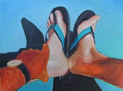 Feet Sunning Art Print