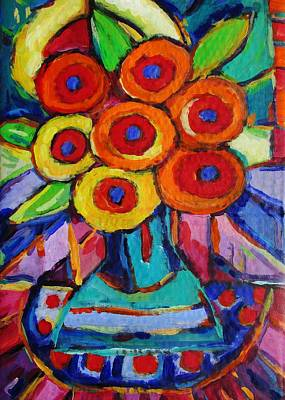 Painting - Feisty Floral 1 by Dianne  Connolly