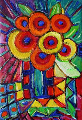Painting - Feisty Florals 2 by Dianne  Connolly