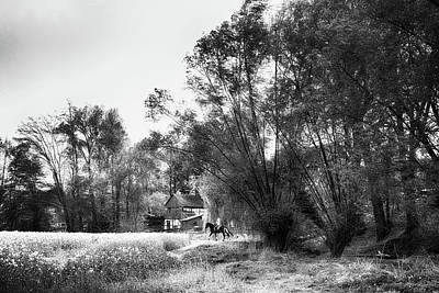 Street Black White Photograph - Felicity - Impressionist Black And White Photography by Frank Andree
