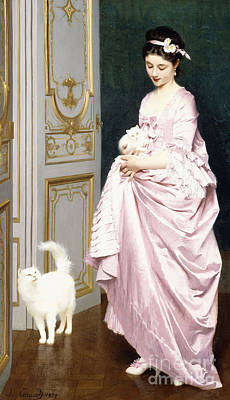 Stylish Painting - Feline Affection by Joseph Caraud