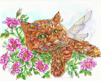 Painting - Feline Fairy by Sherry Shipley