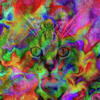 Watercolor Pet Portraits Digital Art - Feline Splendor by Diane Parnell
