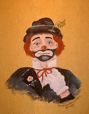 Felix The Clown Art Print by Arlene  Wright-Correll