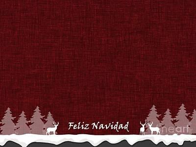 Digital Art - Feliz Navidad 1 by Erika H