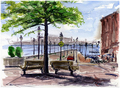 Fells Point Painting - Fell Point In Baltimore Maryland by John D Benson