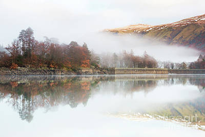 Fells In The Mist Above Thirlmere Art Print by Tony Higginson