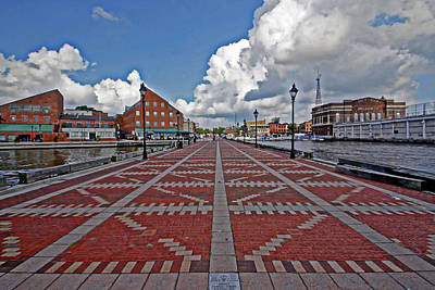 Art Print featuring the photograph Fells Point Pier by Suzanne Stout