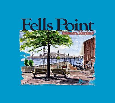 Painting - Fells Point Shirt by John D Benson