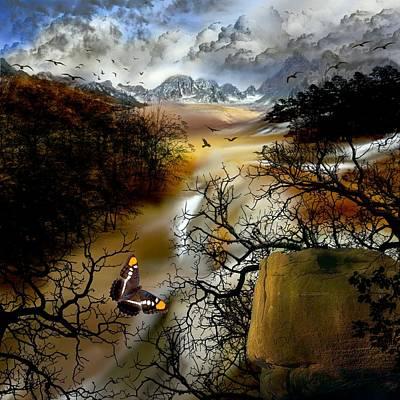 Mountain Sunset Digital Art - Fell's Valley by Deborah Holland
