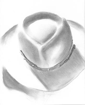 Drawing - Felt Hat Sketch by Ben Kotyuk