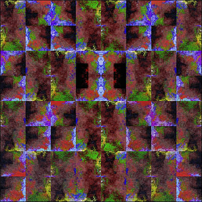 Digital Art - Felted Texture - Squares by Gillian Owen
