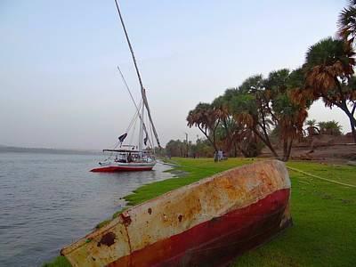 Exploramum Photograph - Felucca And Old Boat by Exploramum Exploramum